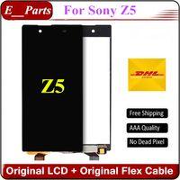 Noir Blanc Pour Sony Xperia Z5 E6603 E6633 E6653 E6683 Écran LCD Original Grade AAAAAA + Affichage Écran tactile Digitizer Assemblée Par DHL