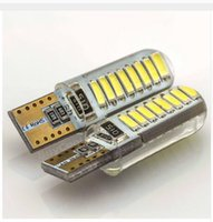 100PCS wholesale T10 16 LED COB W5W CANBUS Silica Gel DC 12V...