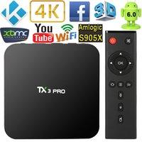 TX3 Pro TV Box Android 6. 0 Smart TV Box Amlogic S905X Quad C...