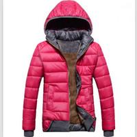 Wholesale new female models sport coat plus velvet down jack...