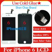 Grade A +++ (100% Impeccable) shenchao Moniteur LCD Avec Cadre tout neuf Pour iPhone 6 100% Sans Pixel Mort Satisfaisant service après-vente