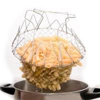 High Quality 50Pcs Foldable Fry Basket Steam Rinse Strain ma...