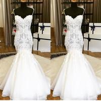 Hot Sale 2017 Lace Mermaid Wedding Dresses Spaghetti Necklin...