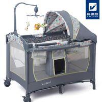 Hot sell baby crib Valdera multifunctional folding Bed Fashi...