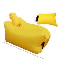 Надувной диван с воздуха Подушка Спальный мешок Laybag Ленивый кровать воздуха Кресло воздуха Кемпинг Диван-кровать Портативный пляж HHA1137