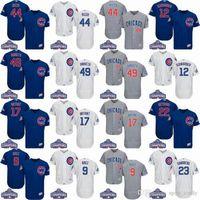 2017 champions Chicago Cubs jerseys 3 Ross 9 Baez 12 Schwarb...