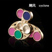 Nouveau 3 couleurs Cyclone Handspinner Hurricane Fidget Spinner Spinner à main Gyro à doigts 3 tours Jouet à décompression Anti Stress Toys DHL