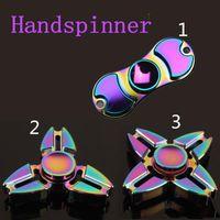 Rainbow Metal Fidget Spinner Coloré EDC Gyro Toys Hand Spinner Fidget Alu en aluminium Fidget Hand Spinner Factory Price
