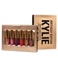 Le plus récent Maquillage Kylie cosmétiques mini mat baton Limited collection d'anniversaire Leo crème ombre DHL gratuit MR022