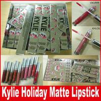 Kylie Holiday Edition Жидкая губная помада Kylie Jenner Waterproof Matte Блеск для губ косметическая коллекция 12 цветов DHL