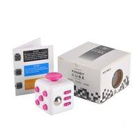 BEST 11 couleurs Nouveau nouveauté en gros Fidget Cube stress soulagement des jouets pour les enfants et les adultes Décompression stress ball développement de la sagesse développement DHL