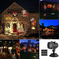 Рождественский проектор Light 12 Сменная объектива 12 Красочные шаблоны Хэллоуин День рождения Свадьба на улице Пейзаж Лазерное освещение светильник лужайки