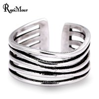 2017 New Punk Copper Rings for Women Vintage Thai Silver Pla...