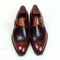 Men Dress shoes Oxford shoes Monk shoes Custom Handmade shoe...