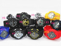 5pcs lot New relogio G100 men' s sports watches, LED chr...