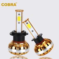 1 Set 60W 6400LM COB LED Headlight 30W 3200LM H1 H3 H7 H10 H...