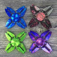 2017 New Star Sky Crab Fidget Spinner Toys EDC Colorful Hand Spinner Alliage d'aluminium Spinning Top Finger Spinner 4 couleurs