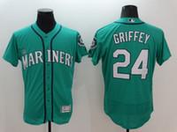 2016 Flexbase MLB Stitched Mariners #24 Griffey 34 Hernandez...