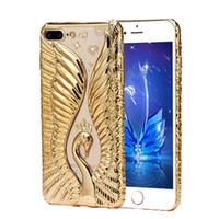 For iPhone 7 Swan Love Case New Fashion Bling Glitter Slim S...