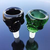 Noir Brwon Vert Bleu Clear Accessoires pour fumer Cuvette en verre avec joint mâle 18,8 mm Accessoires grand verre SK01