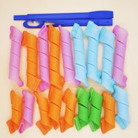 DIY MAGIC LEVERAG magic curler Magic Hair Curler Roller Circ...