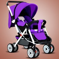 beautiful Baby stroller can sit down folding umbrella car BB...