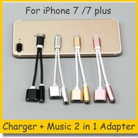 2 in 1 Colorful 3. 5 mm Headphone Jack Adapter For iPhone 7 p...