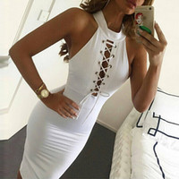 Dresses for Womens Bandage Top The New Fashion Is Hollow- out...