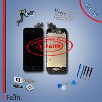Gros-noir verre écran tactile numériseur remplacement de l'écran LCD pour iPhone 5 5G avec accessoires Livraison gratuite