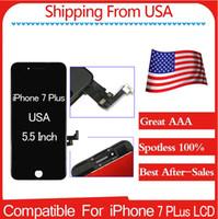 Livraison gratuite Écran LCD de première qualité A + (100% Spotless) pour iPhone 7Plus 5.5 Noir / Blanc Meilleur service après-vente