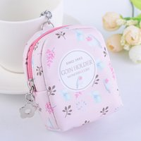 Sweet Floral Backpack Coin Purse Zipped Bags Metal Keychain ...