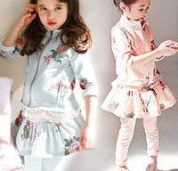 Korean Fashion Spring Flowers Printed Long Sleeve Outwear + ...