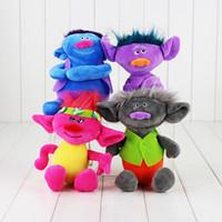 16- 18cm Movie Trolls Poppy Branch Plush Toy Soft Plush Stuff...