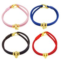 High- grade quality manufacturers selling cowhide rope Bracel...