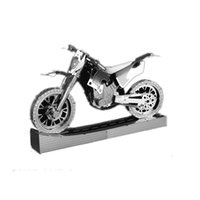 Оптово Беговые мотоциклов DIY Модель здания наборы F1 гоночный автомобиль Гусеничный кран Старый Fasion велосипед 3D Metal Puzzle Miniaturas игрушки автомобиля