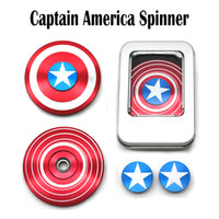 Captain America Hand Spinner Iron Man Fidget Spinner Alloy Puzzle Toys EDC Аутизм ADHD Finger Gyro против Bluetooth Hand Spinner