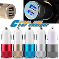 Best Metal Dual USB Port Chargeur voiture universel 12 volts 1 ~ 2 Amp pour Apple iPhone iPad iPod Samsung Galaxy Motorola Nokia Htc