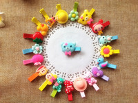 New Baby Hair Clips Crown Flower Hairpins Children Hair Acce...