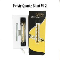 Twisty Glass Blunt Pipes Smoking Pipes Dry Vaporisateur Herb Vape Kits 5 Couleurs Twisty Quartz Blunt V12 DHL Free
