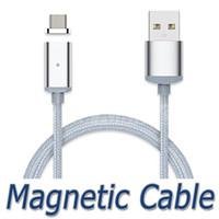 Câble de charge magnétique Câble de Micro USB Nylon tressé à haute vitesse Type c Chargeur 3.3ft 1M Pour Android Samsung Téléphone avec le package de détail