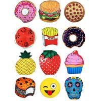 Mandala Tapeçaria Chiffon Crânio Ice Cream Berry toalha de praia Emoji Abacaxi xale Melancia Hamburg Pizza Doughnut Scarf Yoga Mats OOA1541