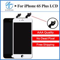 Haute Qualité A +++ pour iPhone 6S plus Affichage LCD avec écran tactile Digitizer avec cadre 3D Touch Full Assembly Black White Livraison gratuite