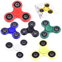 New Finger Spinner Spinner à main Triangle Tri Fidget Boule en acrylique en plastique Bouteille de bureau EDC pour enfants Adult Finger Spinning Top