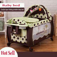 2016 Hot sell Eco- friendly multifunctional folding baby crib...
