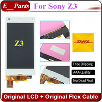 Original AAA Pour Sony Xperia Z3 LCD D6653 D6633 D6603 D6683 Écran LCD lcd pour Sony Z3 Écran tactile 5.2 '' Whte et noir