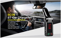 BC06 Bluetooth Car Kit lecteur mp3 Transmetteur FM Kit mains-libres BC06 avec LED Display Dual USB Charger