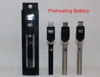 Préchauffage Pile de préchauffage de la batterie Tension variable réglable O-pen Batterie BUD 350mAh Vapor stylo 510 pour cire CBD Cartouche d'huile CO2