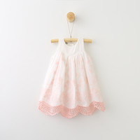 Everweekend Girls Floral Embroidered Lace Summer Dress Pink ...