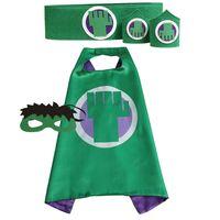 Золотые Руки Дети Супергерой Косплей Одежда Робин Человек-паук мыс с маской пояса лучезапястного сустава 4 Установить ребенка костюмы Мода Стиль