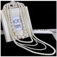 Fashion imitation pearl sweater chain long paragraph accesso...